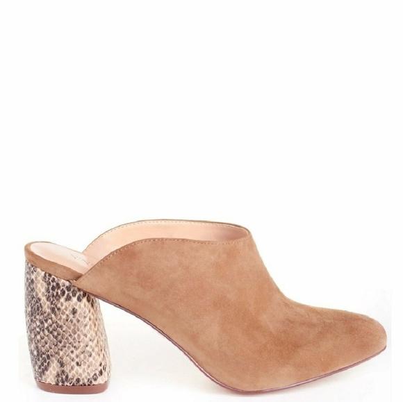 Nine Mules Taupe Poshmark Block Shoes West Heel Jahano Z6zqH1rZfP